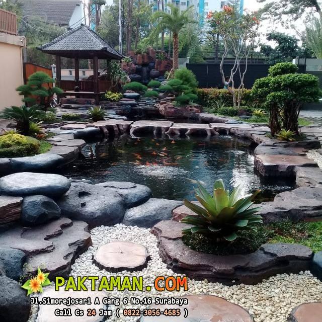 Jasa Pembuatan Kolam Ikan Minimalis Surabaya Paktaman Com